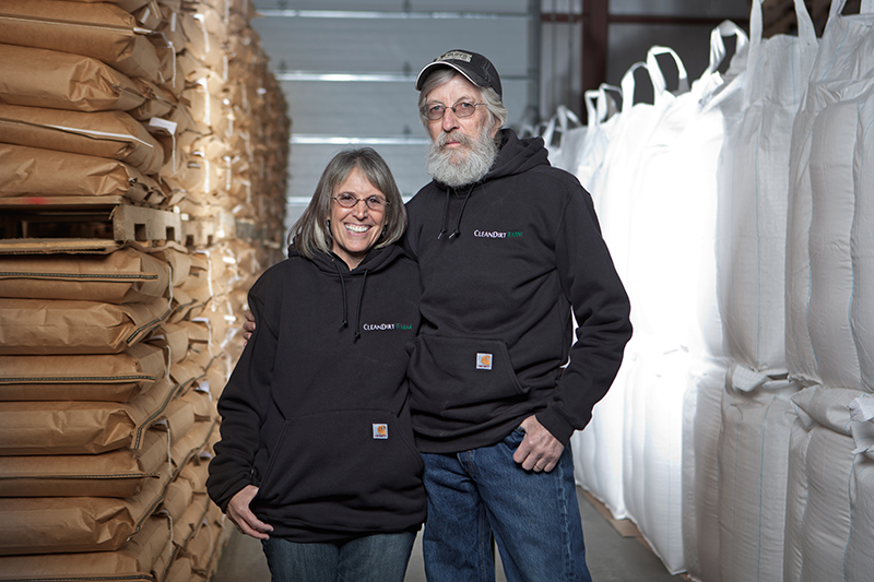 Clean Dirt Farm founders Rob Knowles and Meryl Stern.