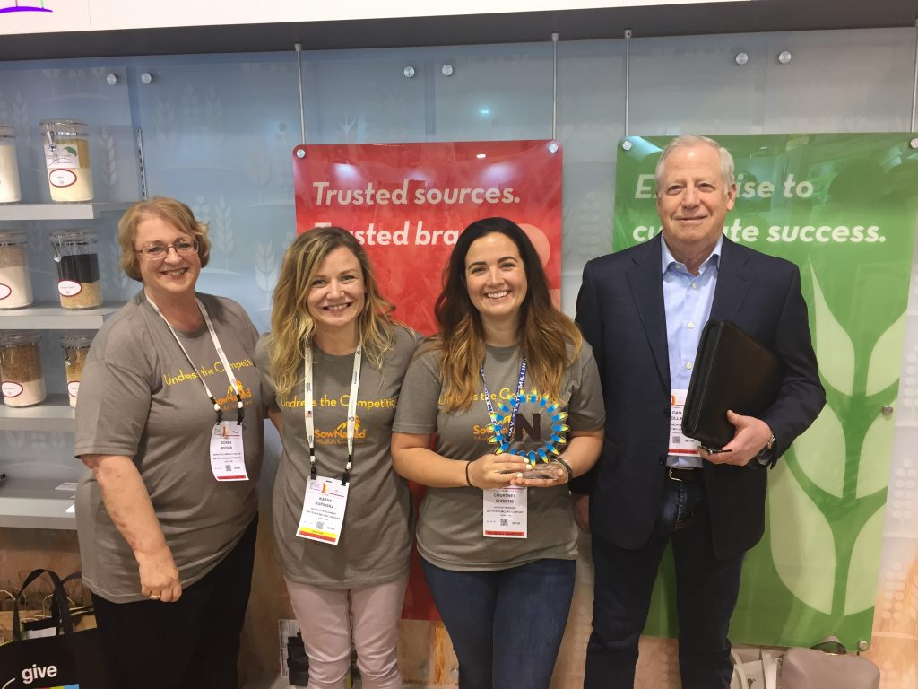 Bay State Milling Company accepts the 2018 Best New Ingredient Nexty Award at Natural Products Expo West.