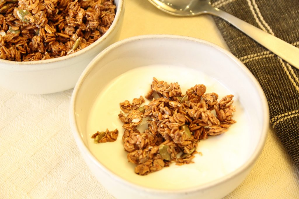 HealthSense granola is perfect for snacking or as a yogurt topping.