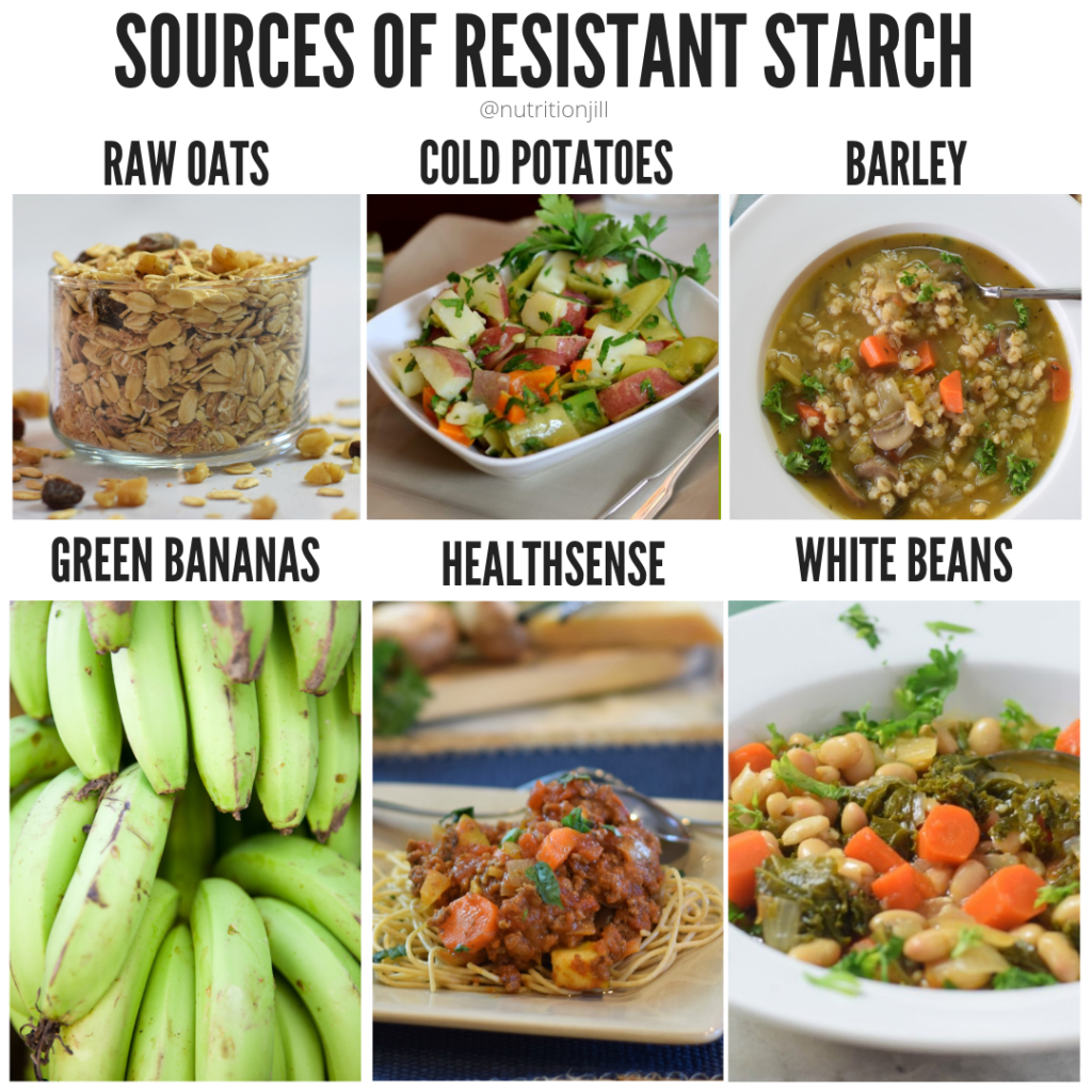 Sources of resistant starch. Photo credit: Jilll Weisenberger.